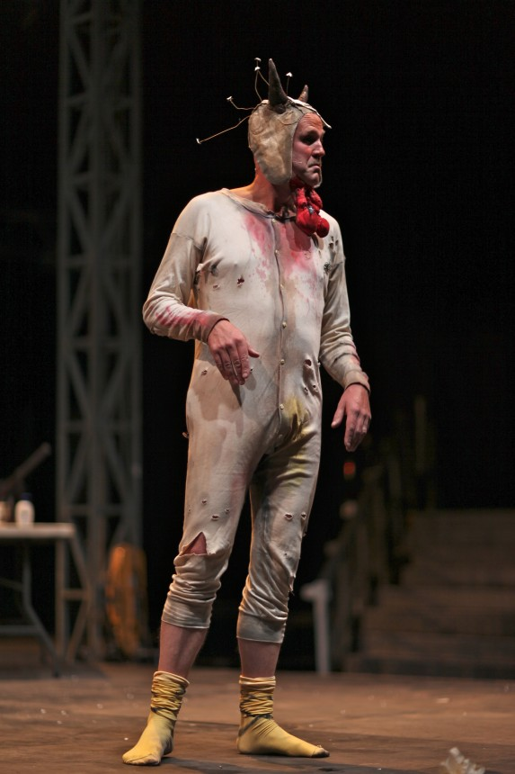 Tim Crouch in I, Malvolio. Credit: Bruce Dalzell Atherton
