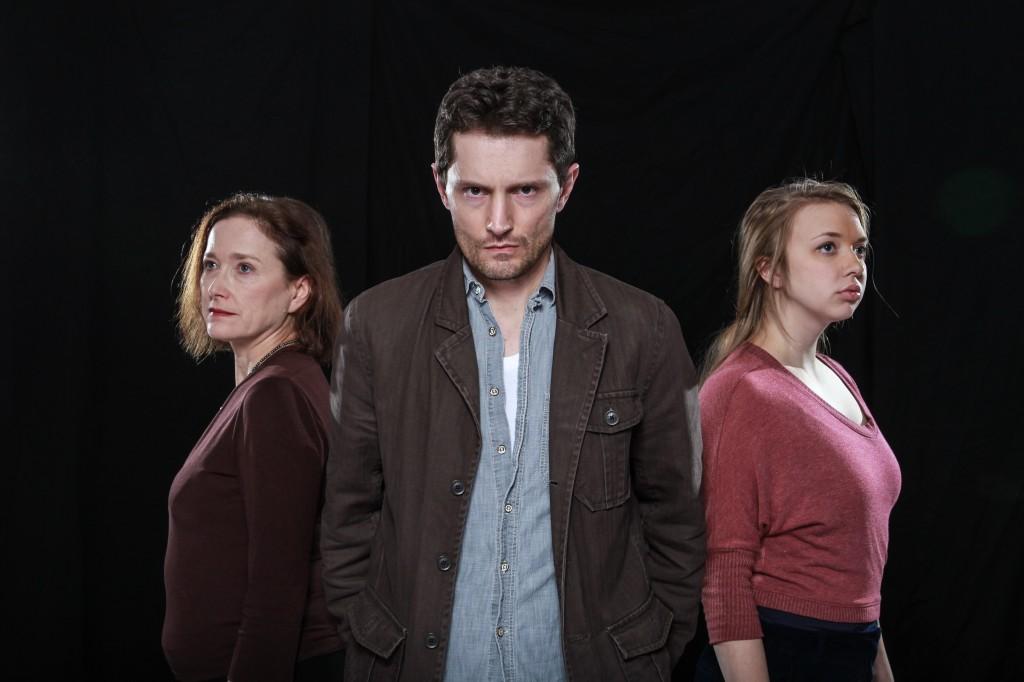 Leanna Brodie, John Emmet Tracy and Pippa Mackie in Terminus Credit: Ian Snow