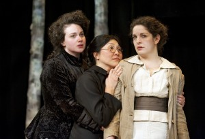 Emma Slipp, Manami Hara and Rachel Aberle Credit: Emily Cooper
