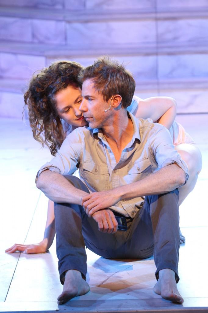 Rachel Cairns and Jonathon Young in Hamlet Credit: David Blue