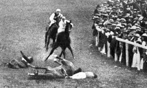 Newsreel footage from June 4, 1913. Emily Davison died four days later.