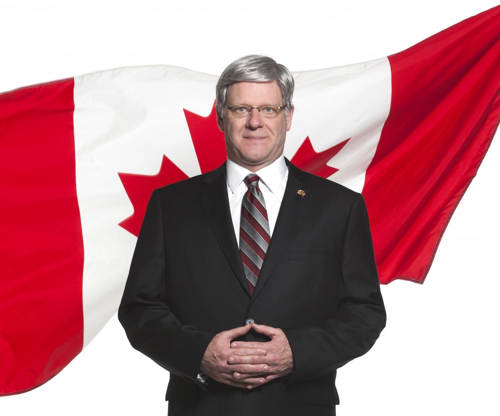 Andrew Wheeler as  Prime Minister Stephen Harper in PROUD Credit: Emily Cooper