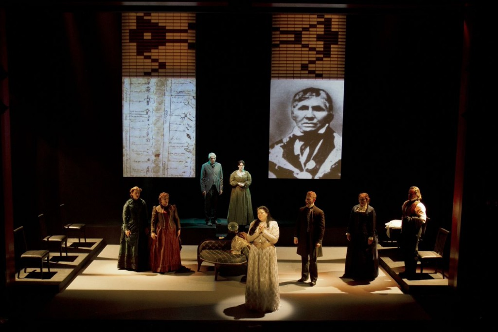 Set design: John Webber and Marianne Nicolson Projections: Tim Matheson Credit: Michelle Doherty Photography