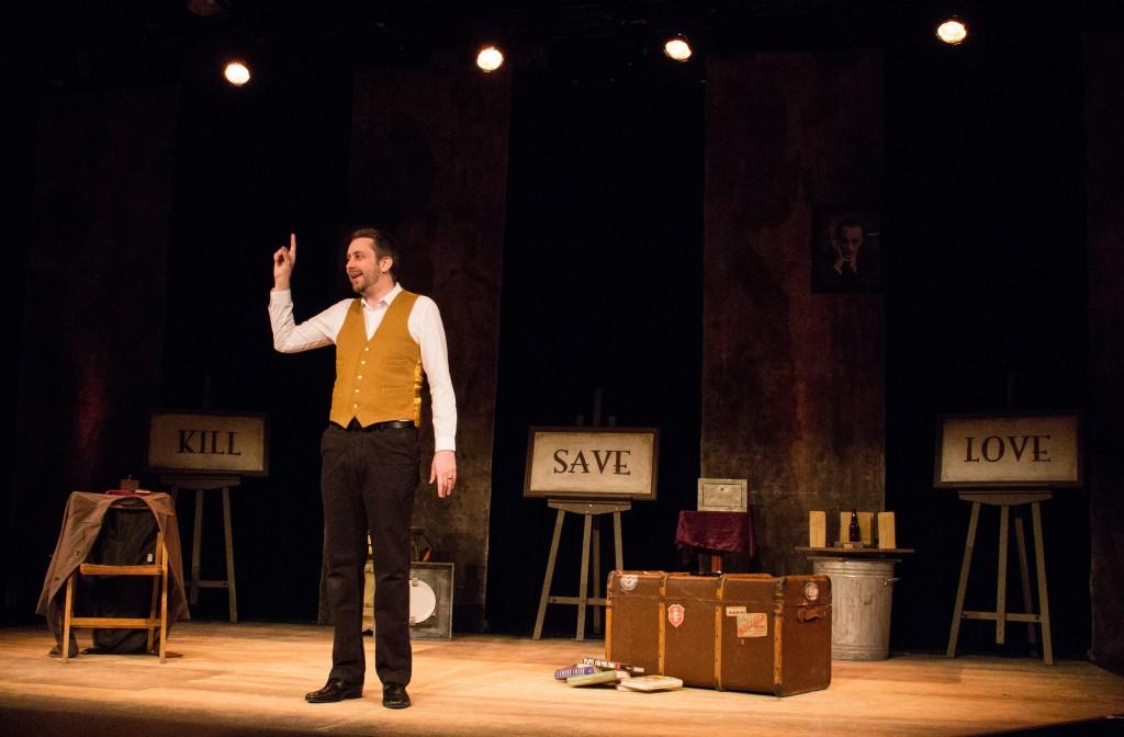 Rob Drummond on Stage Designer Francis Gallop's set Credit: Megan Verhey