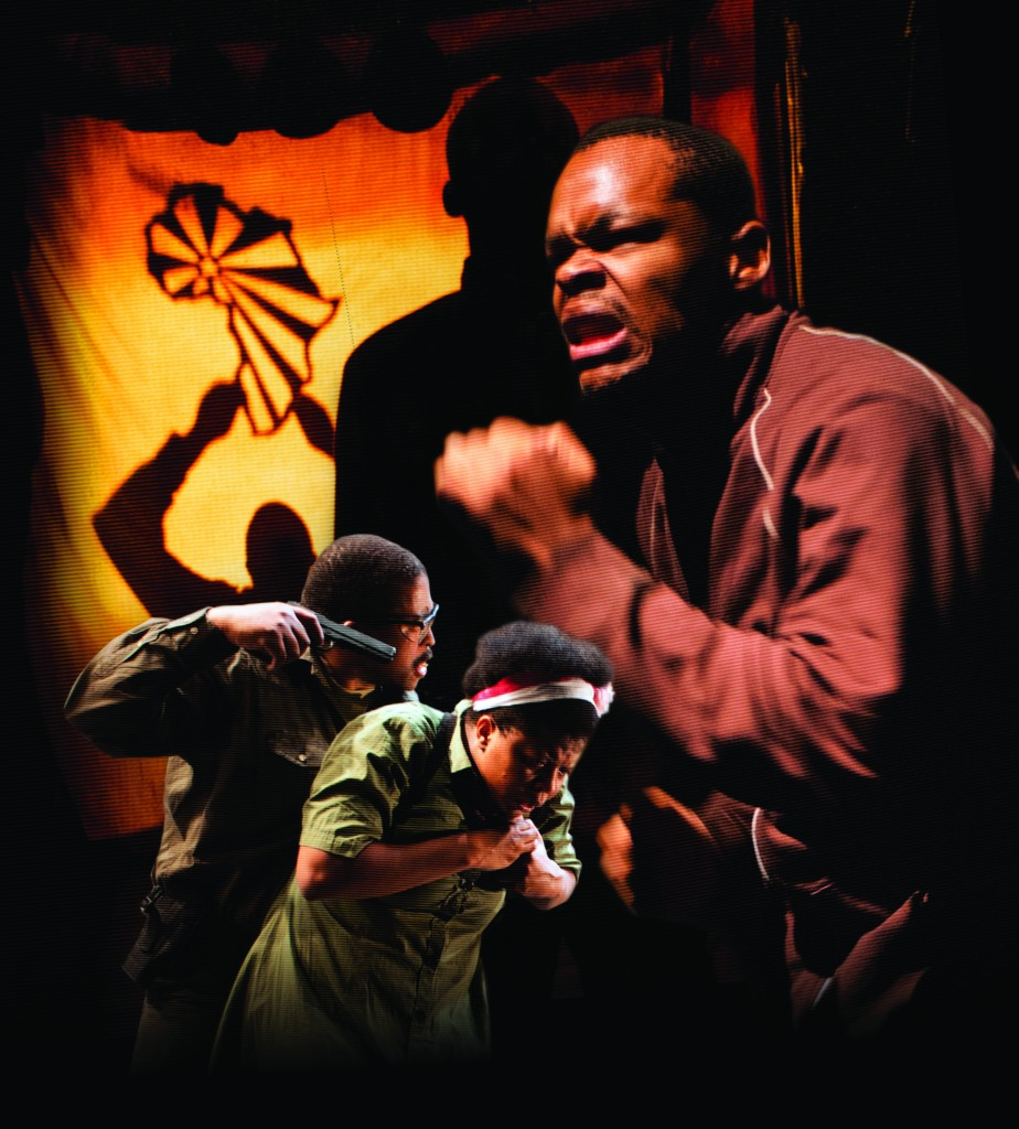 Sello Motioung (from an earlier production), Lillian Tshabalala and Omphile Molusi Credit: Michael Brosilow