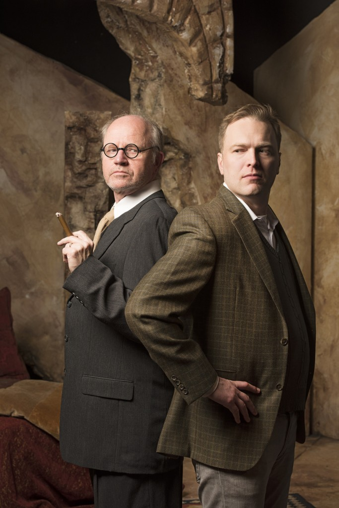 Ron Reed (as Freud) and Evan Frayne (C.S. Lewis) Credit: Emily Cooper