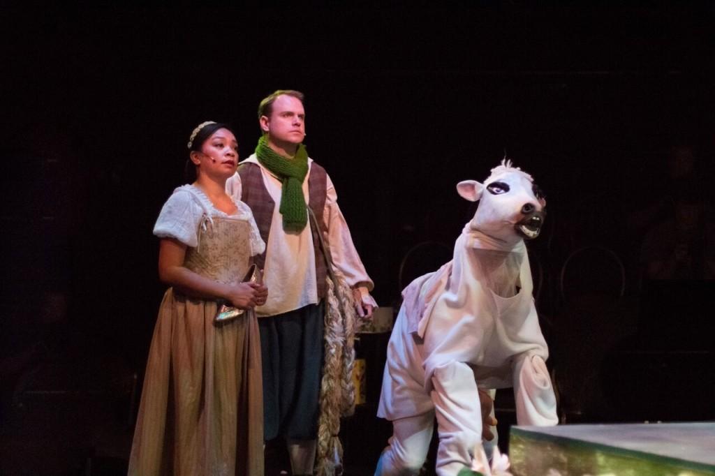 Jennifer Suratos, Christopher King and Milky White (Ryan Lino) Credit: Nicol Spinola