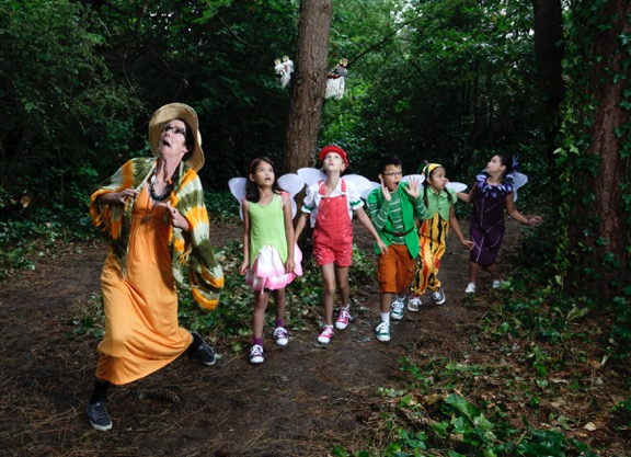 Sharon Bayly (left) and the cast of The Faerie Play Credit: Tim Matheson