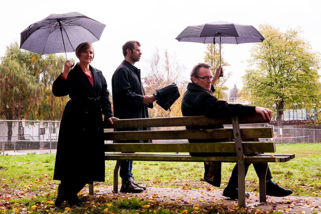 Carol Ydenberg, Kerry van der Griend and Simon Webb Credit: Mark Halliday